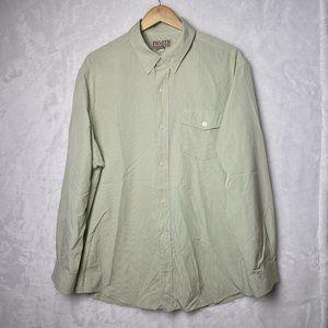 Duluth Button Down Shirt Nylon Blend Green Size L
